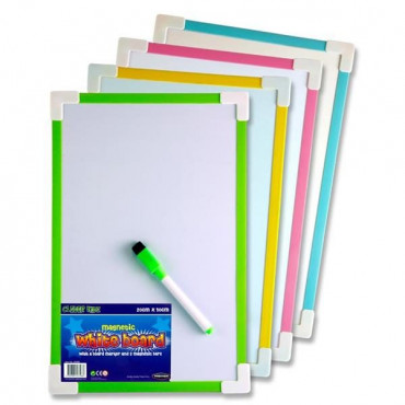 Whiteboard Magnetic 20X30Cm Single Assorted Colour