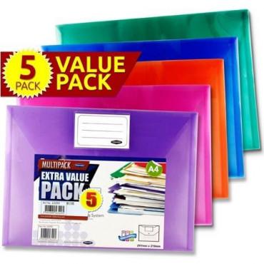 Button Wallet Pk 5 Coloured
