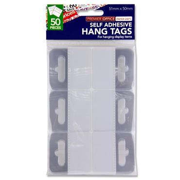 Hang Tabs Euro Hole Adhesive 50Pk
