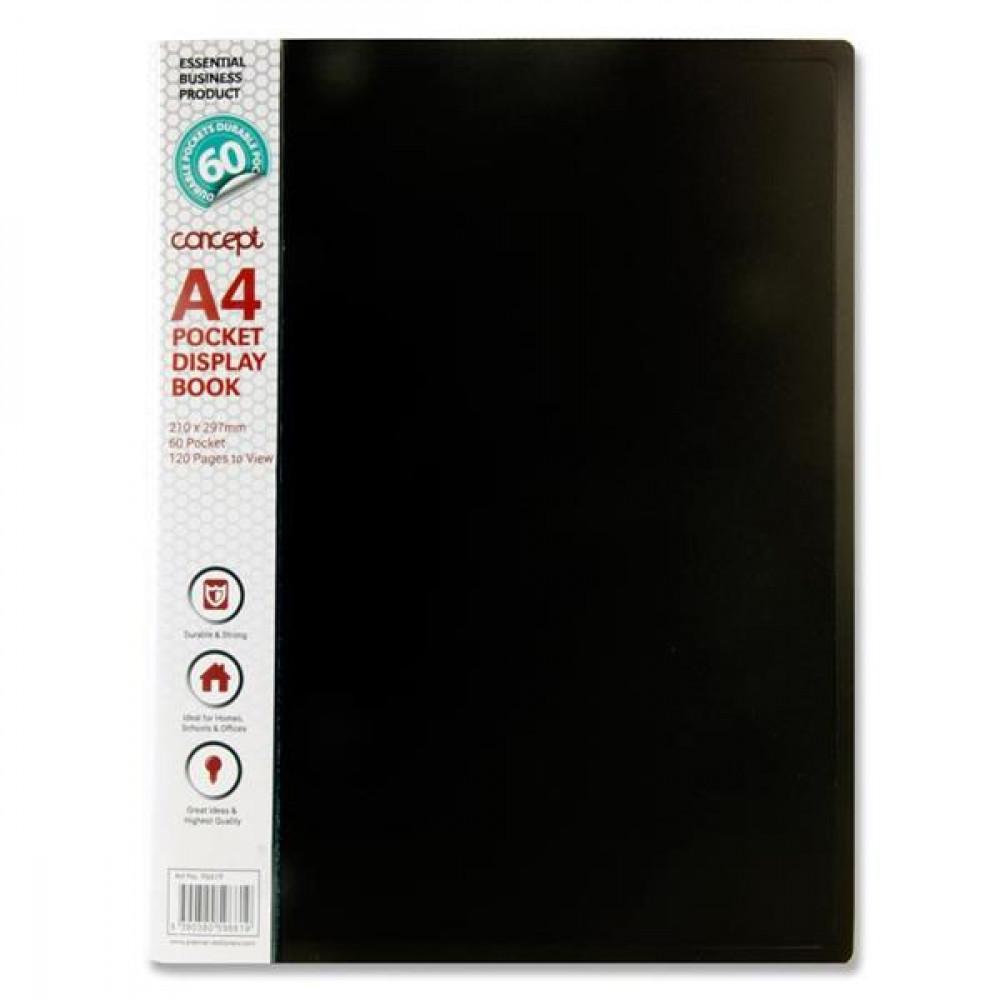 A4 60 Pocket Display Book Black