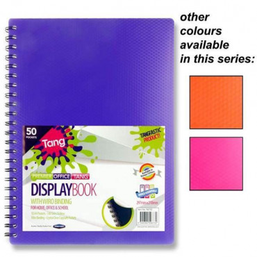 A4 Display Book Spiral 50Pocket Bright