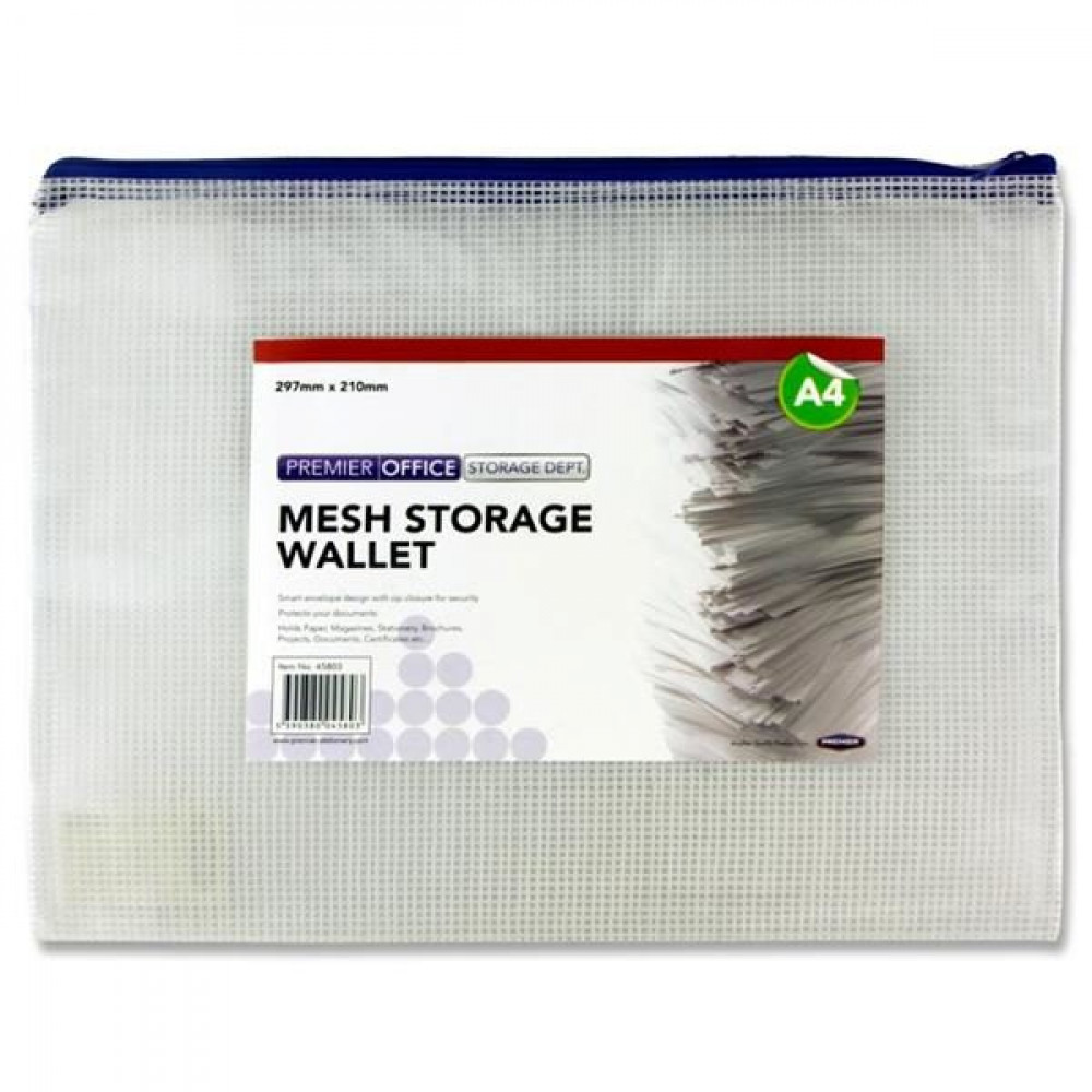 A4 Mesh Storage Wallet Clear