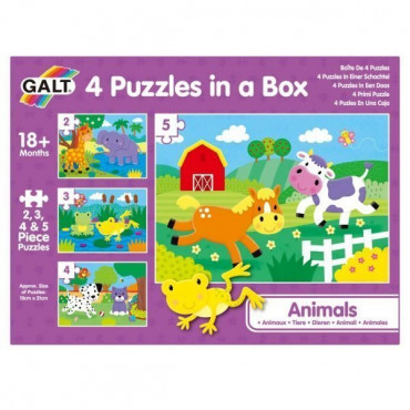 Animal Puzzle 4 in a Box