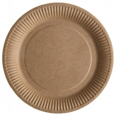 Kraft Paper Plates 22cm 10pack Compostable