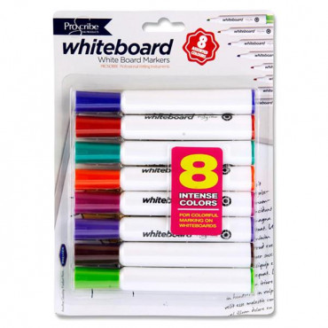 8 Dry Wipe Whiteboard Markers Proscribe