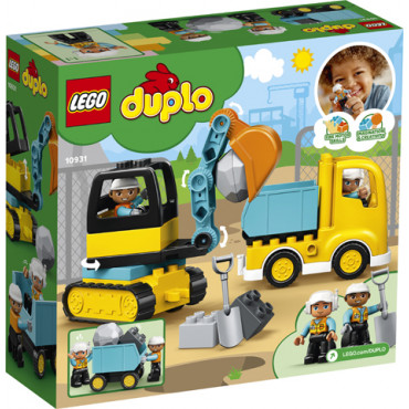 Lego Duplo Truck and Tracked Excavator