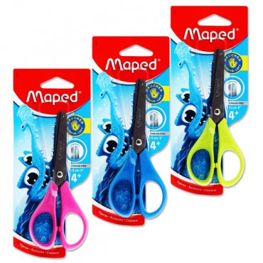 Left Handed Scissors 13cm Soft Grip- 3 Assorted Co