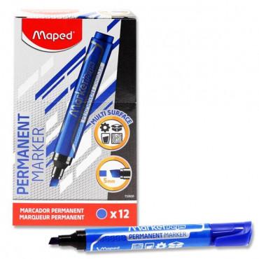 Maped Jumbo Chisel Tip Permanent Marker - Blue