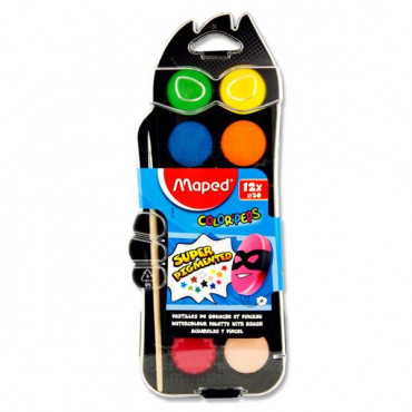 Color'peps Watercolour Tablets + Brush Box of 12