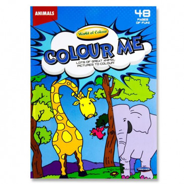 A4 Animals Colouring Book