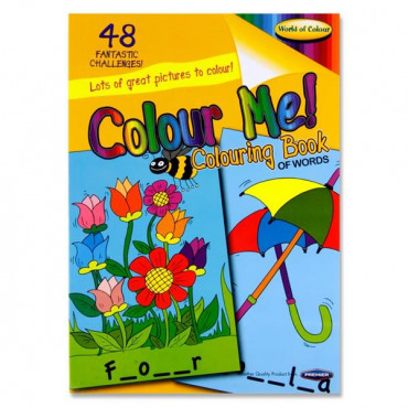 A4 Fun Activity Colouring Book