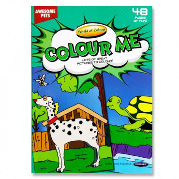 A4 Pets Colouring Book