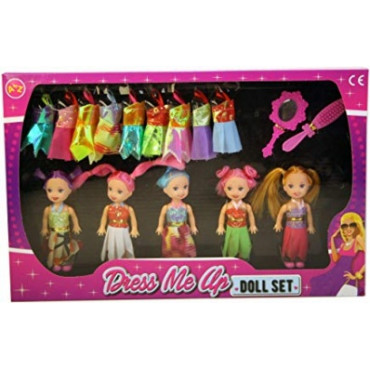 Best Friends Doll Set 5Pc
