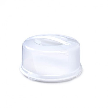 Cake Box Round With Handle Plastic 33Cm