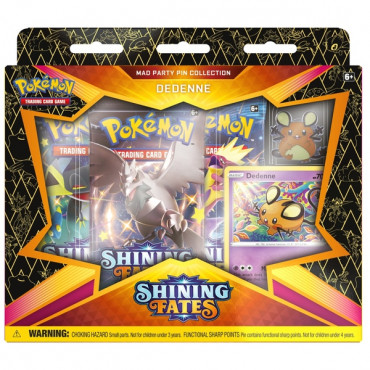 Pokemon Shining Fates Mad Party Pin Collection Ass