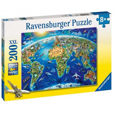 Word Landmark Map Puzzle