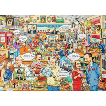 best Of British The Auction 1000Pce Puzzle