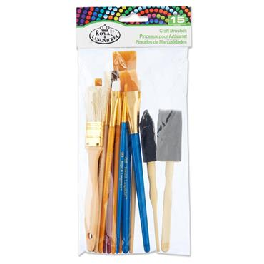 15pce Brush Value Pack Craft Brushes