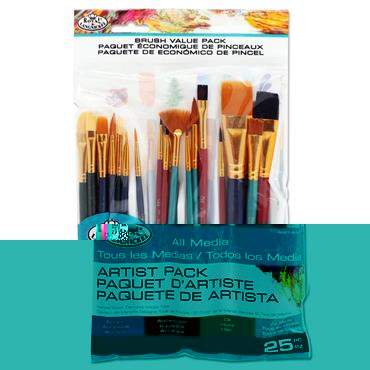 25pce Artist Variety Brush Pack