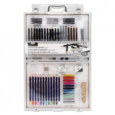 Essentials 63pce Art Set In Aluminium Case