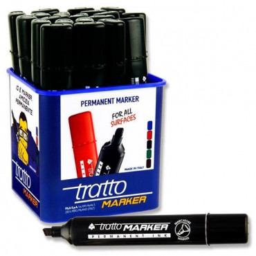 Permanent Marker Chisel Tip- Black Tratto