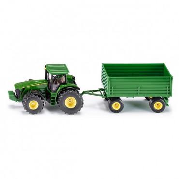 John Deere Tractor With  Trailer 1:50