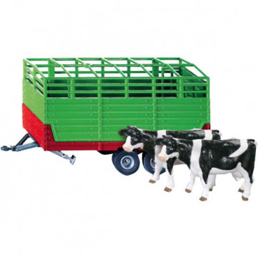 Stock Trailer W/2 Cows 1:32