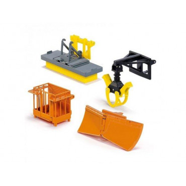Front Loader Accessories Yellow/Orange 1:32