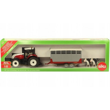 Steyr With Trailer & 2 Cows 1:32