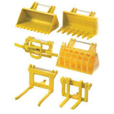 Front Loader Accessories Yellow Pk4 1:32