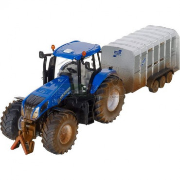 New Holland With Ifor Williams Trailer 1:32