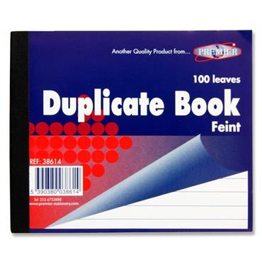 Duplicate 1.5 Size Book Feint