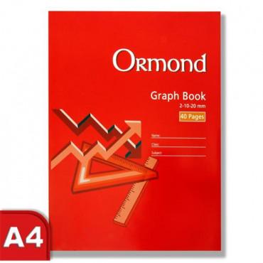 A4 Graph Book Ormond 40Pg