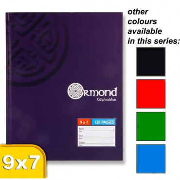 Ormond Hardback Book 9x7In 5 Asst