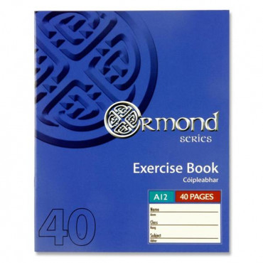 40Pg Exercise Copy Ruled
