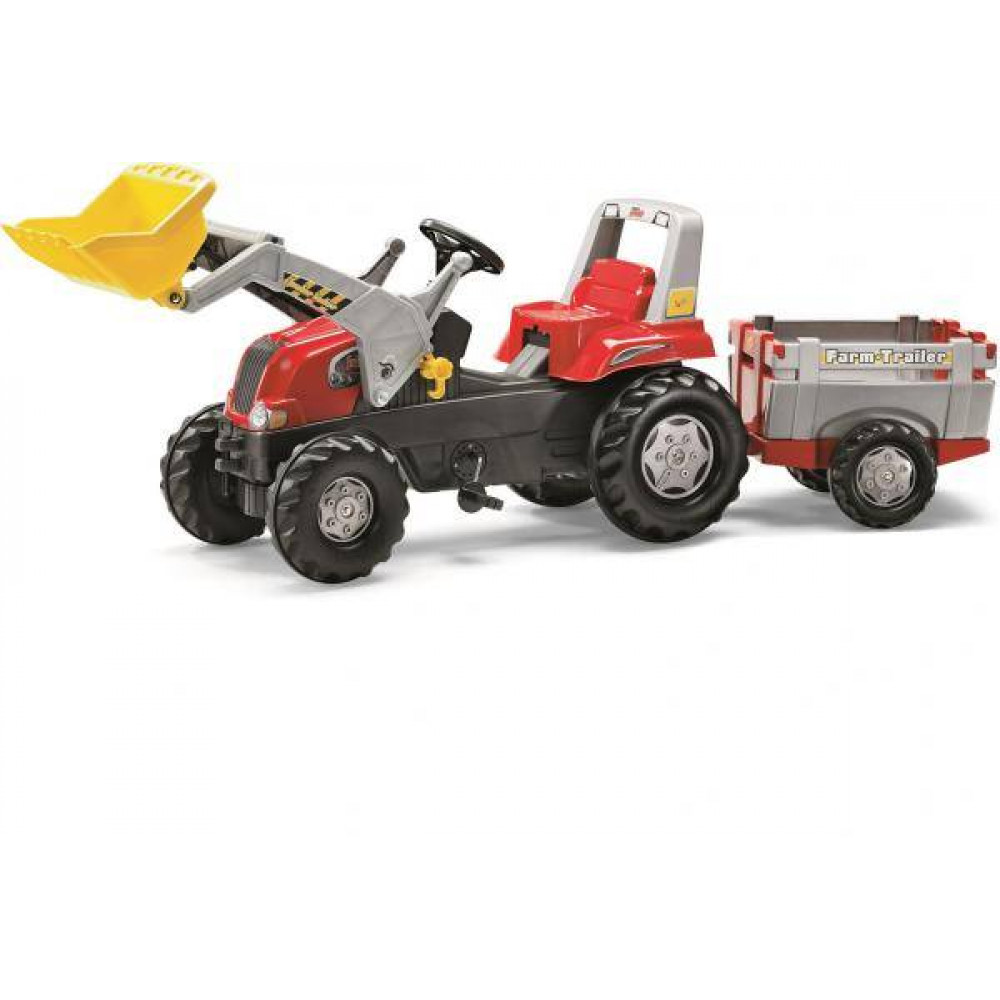 Rolly Red Tractor-Loader-Trailer Junior