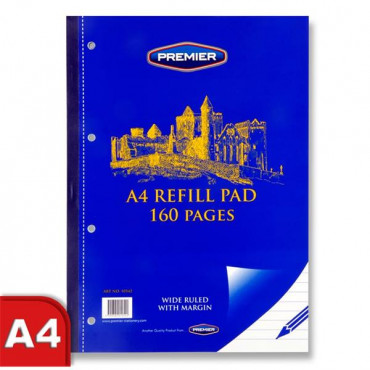 A4 Refill Pad 160Pg Side