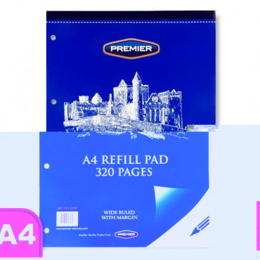 A4 Refill Pad 320 Page Top