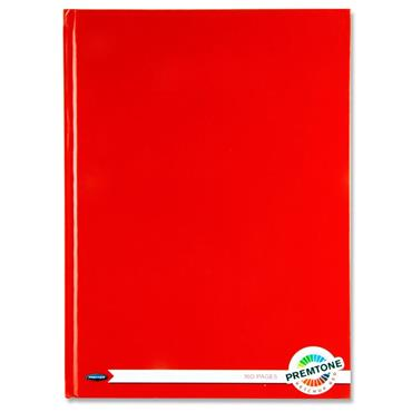 A4 160Pg Hardcover Notebook Ketchup Red