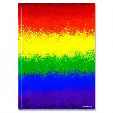 A4 Hardback Rainbow Notebook 16pgs