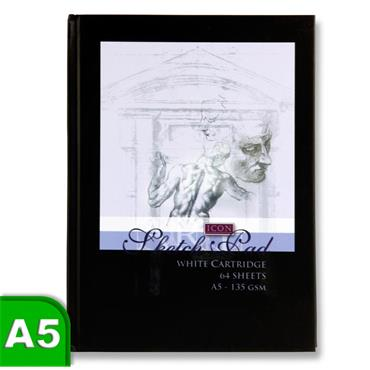 Hardcover Sketch Book 64 Sheet Black