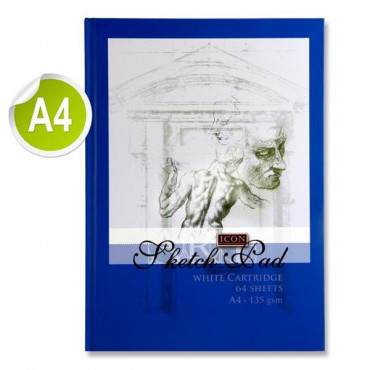 A4 Blue Hardcover Sketch Book-64 Sheets 135Gsm