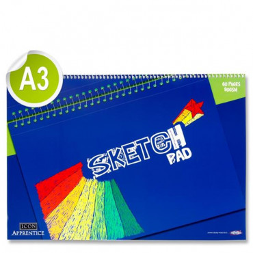 A3 Sketch Pad Spiral-60 Pages 90Gsm