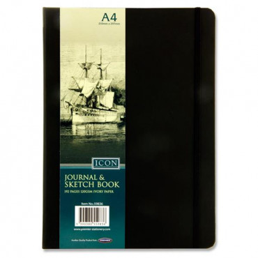 A4 Black Journal And Sketch Book 192Pg