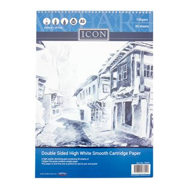 A3 Icon Sketch Pad Spiral 30 Sheets