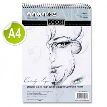 A4 Spiral Sketch Pad -20Pages Double Sided Cartrid