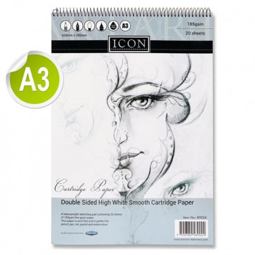 A3 Sprial Sketch Pad- Double Sided Cartridge Paper