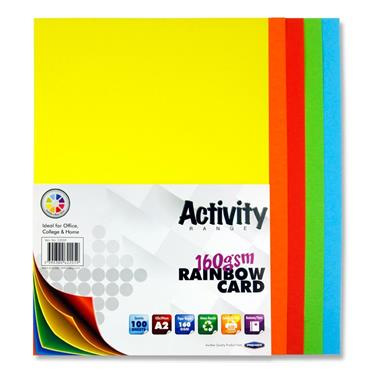 A2 160gsm Card 100 Sheets Rainbow