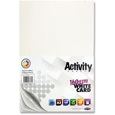A3 White Card 50 Sheets 160Gsm