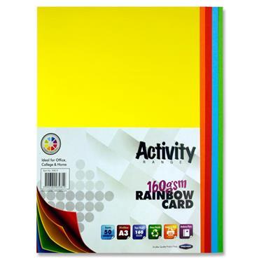 A3 Coloured Card 50 Sheets